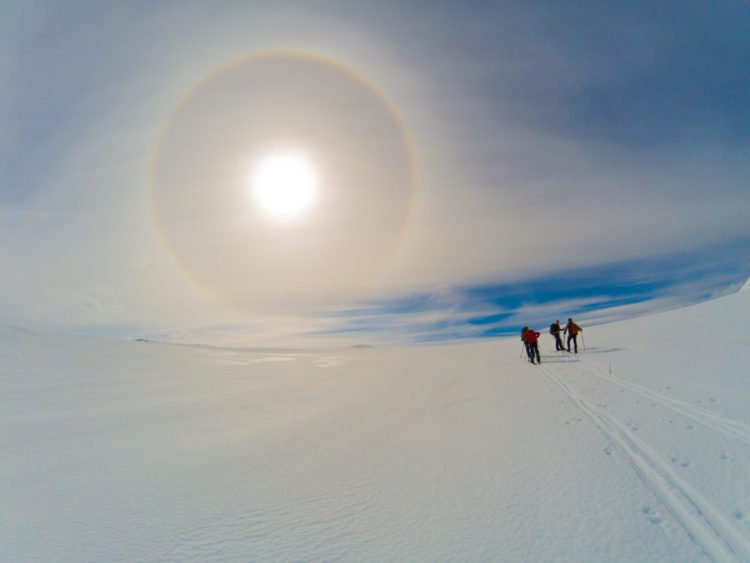 22° halo, værfenomen, Svartisen, glacier, Ousland Polar Exploration, Rune Krogh